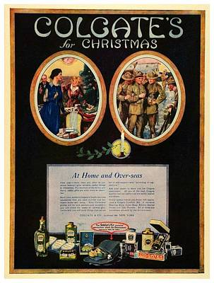 Doughboy Digital Art - 1918 - Colgate Advertisement - World War I - Color by John Madison