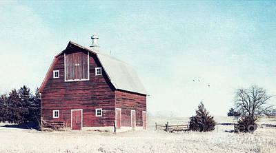 Thomas Kinkade Royalty Free Images - 1918 Barn Royalty-Free Image by Pam  Holdsworth