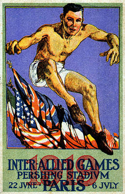 Painting - 1919 Allied Games Poster by Historic Image