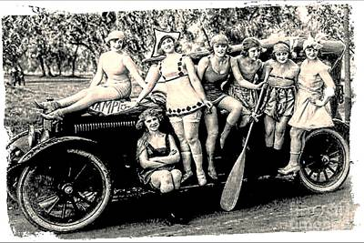 Photograph - 1919 Bathing Beauties by Audreen Gieger