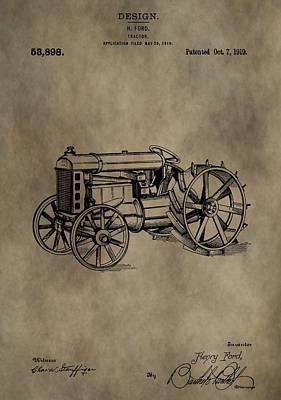 1919 Tractor Patent Art Print