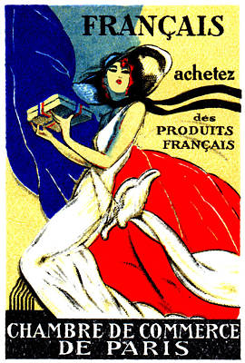 Painting - 1920 Buy French Products by Historic Image