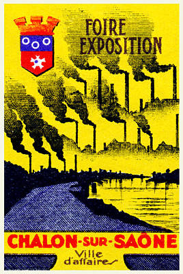 Painting - 1920 Chalon-sur-saone Exposition by Historic Image