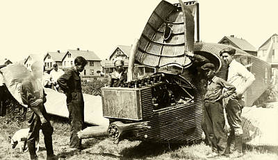 Photograph - 1920 Crash Of Junkers Larsen Aircraft by Historic Image