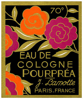 Painting - 1920 French Eau De Cologne Pourprea Perfume by Historic Image