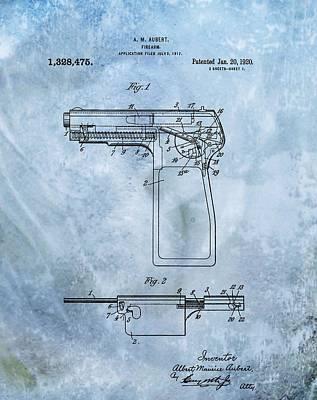 Self Shot Digital Art - 1920 Handgun Patent by Dan Sproul