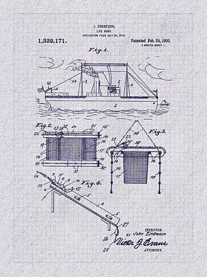 Photograph - 1920 Life Buoy Patent Art by Barry Jones