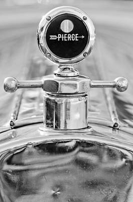 Photograph - 1920 Pierce-arrow Model 48 Coupe Hood Ornament - Motometer by Jill Reger
