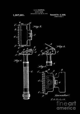 Alabama Digital Art - 1920 Razor Chadwick Patent Art  by Lesa Fine