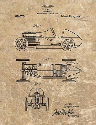 Show Mixed Media - 1920 Roadster Patent by Dan Sproul