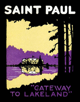 Painting - 1920 Saint Paul Poster by Historic Image