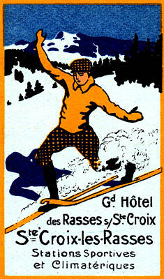 1920 St. Croix Winter Sports Art Print by Historic Image