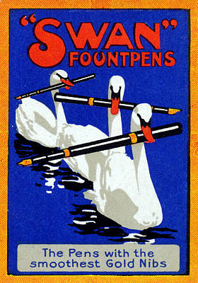 Painting - 1920 Swan Fountain Pens by Historic Image