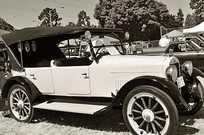 Photograph - 1920 White Studebaker by Tikvah's Hope