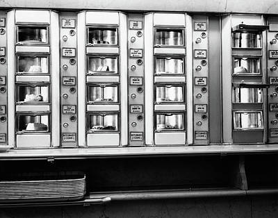 Angled Windows Photograph - 1920s 1930s 1940s 1950s Series Automat by Vintage Images