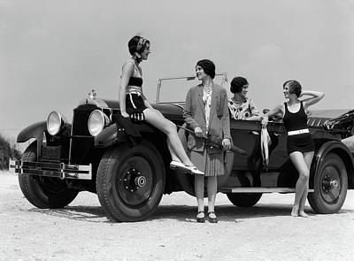 1920s 1930s Four Women Art Print
