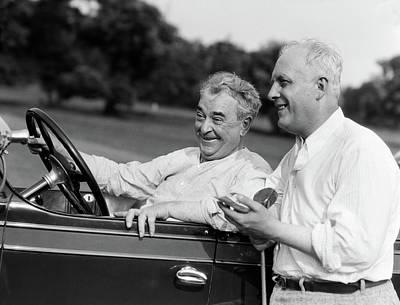 1920s 1930s Senior Man Sitting Driving Art Print