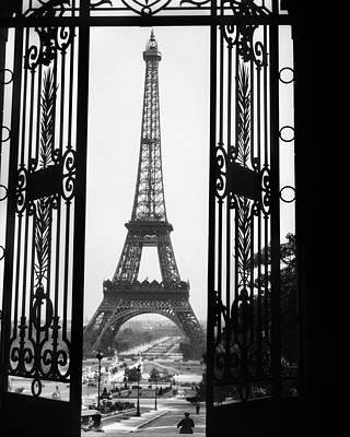 1920s Eiffel Tower Built 1889 Seen Art Print