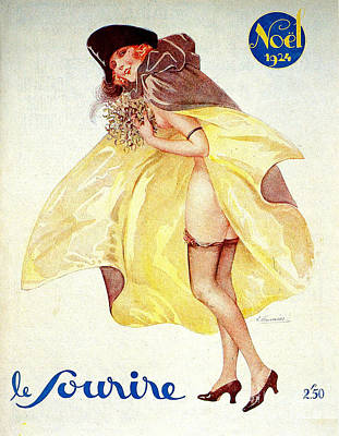 1920s France Le Sourire Magazine Cover Art Print by The Advertising Archives