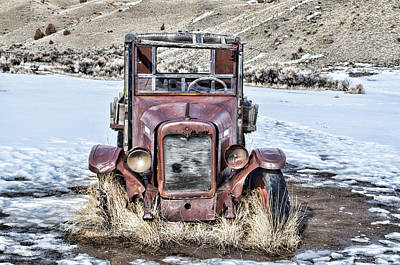 Bannack State Park Photograph - 1920s International Truck by Fran Riley
