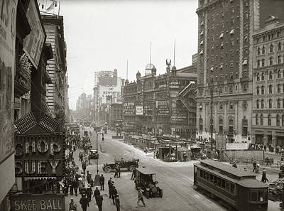 Outdoor Theater Photograph - 1920s Overhead Sixth Avenue Hippodrome by Vintage Images