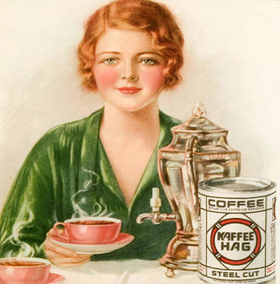 Kaffee Photograph - 1920s Uk Kaffee Hag Magazine Advert by The Advertising Archives