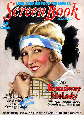 Drawing - 1920s Usa Screen Book  Magazine Cover by The Advertising Archives