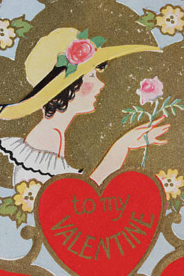 Photograph - 1920s Valentine 9 by Mary Bedy