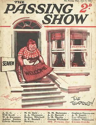 Drawing - 1920s,uk,the Passing Show,magazine Cover by The Advertising Archives