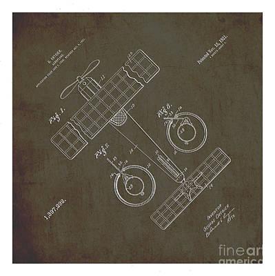 Automotive Drawing - 1921 Aeroplane Patent Art Ortgier 1 by Nishanth Gopinathan
