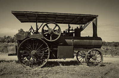 White Steamer Photograph - 1921 Aultman Taylor Tractor by Debra and Dave Vanderlaan