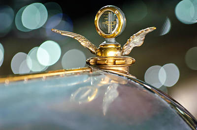 Photograph - 1921 Bentley Motometer Hood Ornament -0471c by Jill Reger