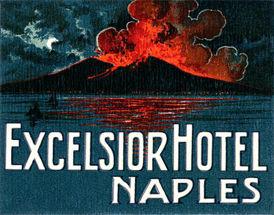 Painting - 1921 Excelsior Hotel Naples Italy by Historic Image