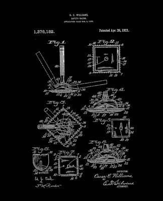 Digital Art - 1921 Square Razor Williams Bw by Lesa Fine