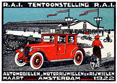 Painting - 1922 Amsterdam Car Show by Historic Image