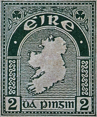 Photograph - 1922 Ireland Eire Stamp by Bill Owen