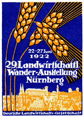 Painting - 1922 Nuremberg Agricultural Exhibit by Historic Image
