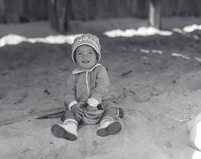 Photograph - 1923 Beach Baby by William Haggart