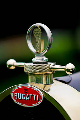 Hood Ornament Photograph - 1923 Bugatti Type 23 Brescia Lavocat Et Marsaud Hood Ornament by Jill Reger