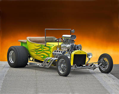 Street Rod Photograph - 1923 Ford Bucket T Pick Up by Dave Koontz