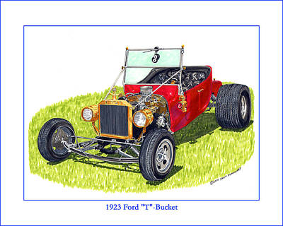 Painting - T Bucket Ford 1923 by Jack Pumphrey