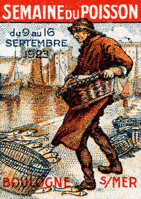 Painting - 1923 French Seafood Festival by Historic Image