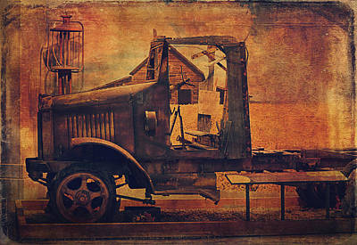 Abandoned Digital Art - 1923 International Truck  by Maria Angelica Maira