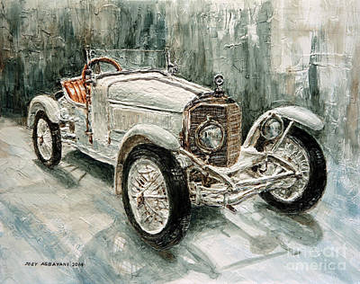 1923 Mercedes Ps Sport- Zweisitzer Art Print by Joey Agbayani