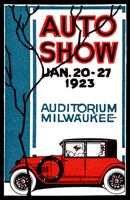 Painting - 1923 Milwaukee Auto Show by Historic Image