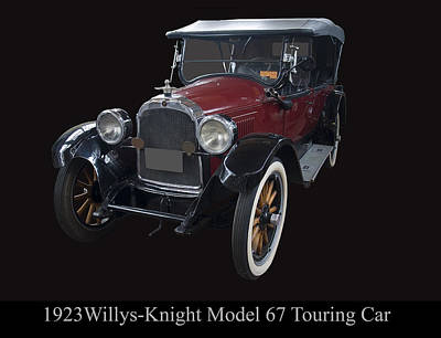 Digital Art - 1923 Willys Knight Model 67 Touring Car by Chris Flees