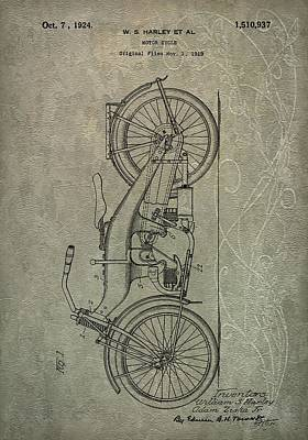 Motorcycle Mixed Media - 1924 Harley Davidson by Dan Sproul
