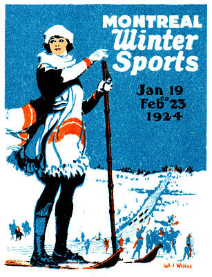 1924 Montreal Winter Sports Poster Art Print by Historic Image