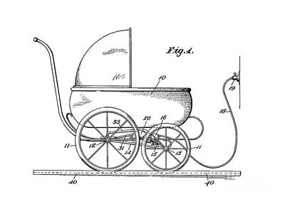 1924 Patent Art Koch Baby Carriage 1 Art Print