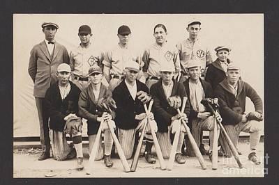 Mixed Media - 1924-rockwall-baseball-team by R Muirhead Art